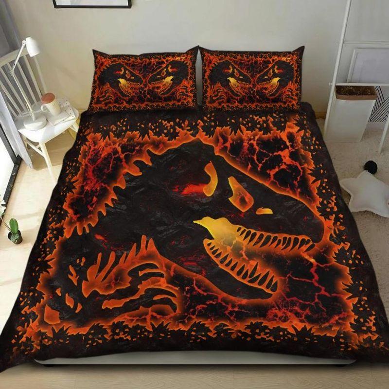 Dinosaur lava bedding set 7