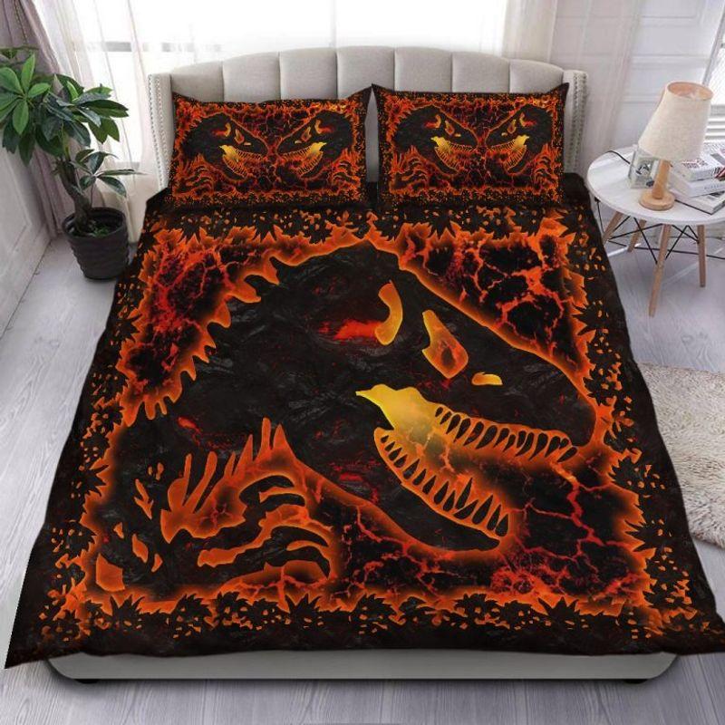 Dinosaur lava bedding set 9