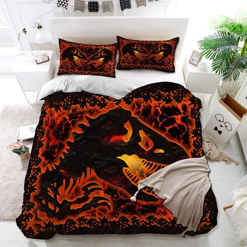 Dinosaur lava bedding set 8