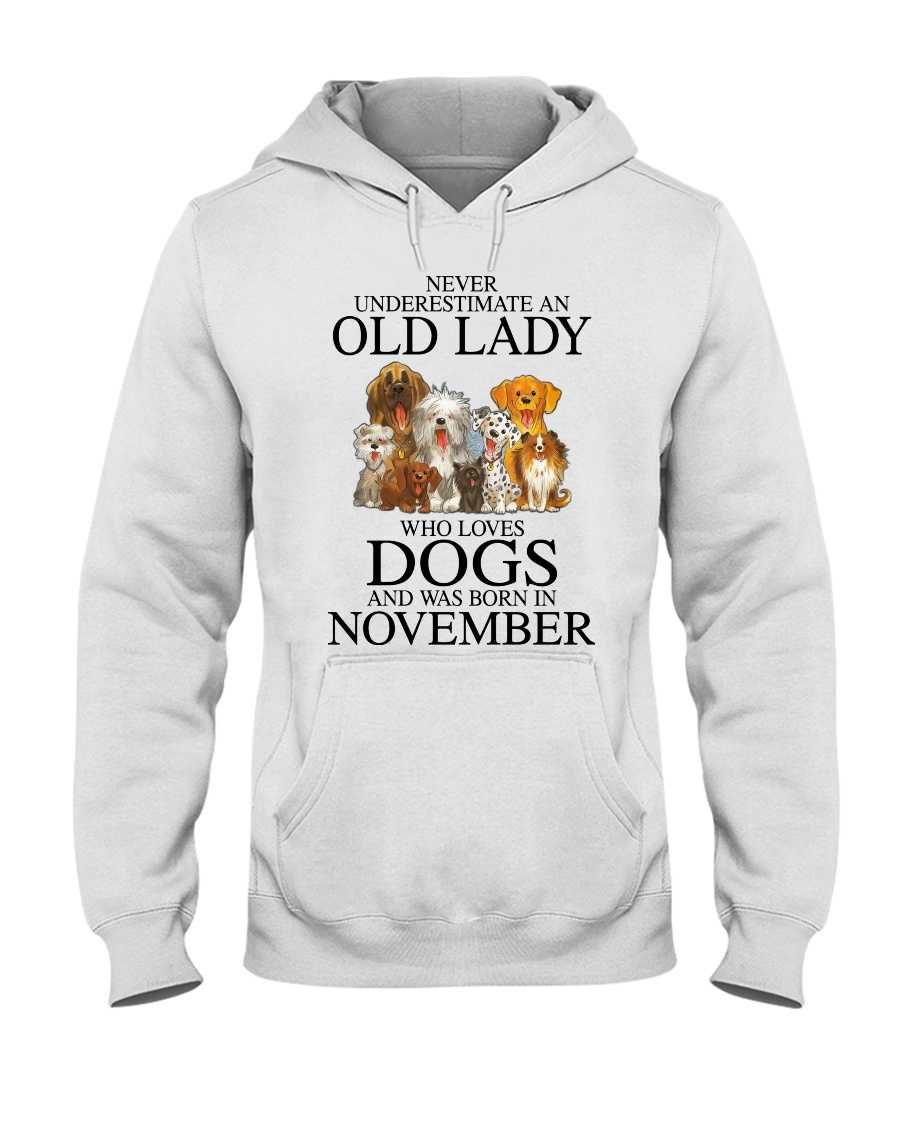 Dog Never Underestimate An Old Lady Who Loves November Shirt 12
