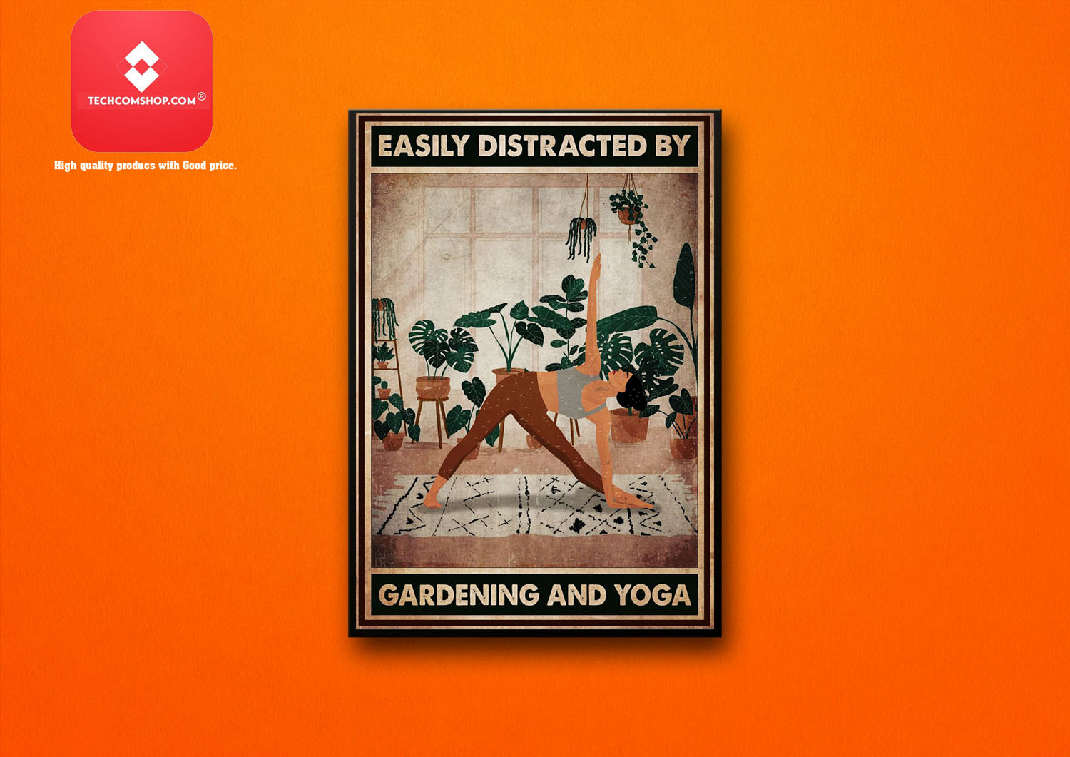 Easily distracted by gardening and yoga poster 8
