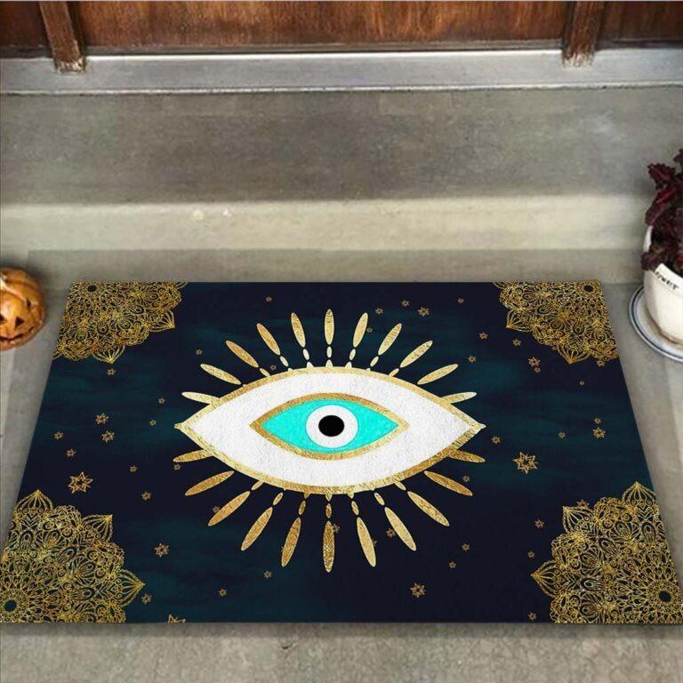Evil eye doormat 7