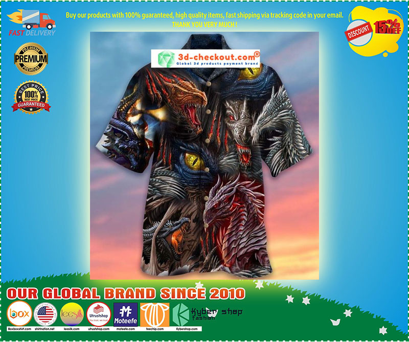 Fire doesnt kill dragon it bears dragon unisex hawaiian shirt 9