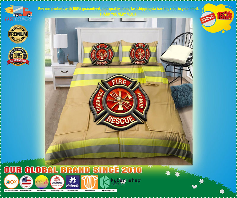 Firefighter Fire Honor Rescue Courage bedding set 9