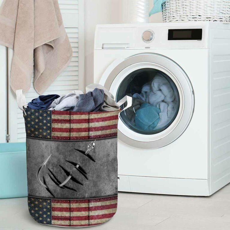 Fishing American flag basket laundry 9