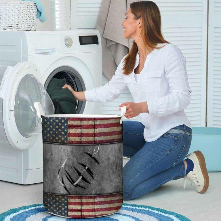 Fishing American flag basket laundry 8