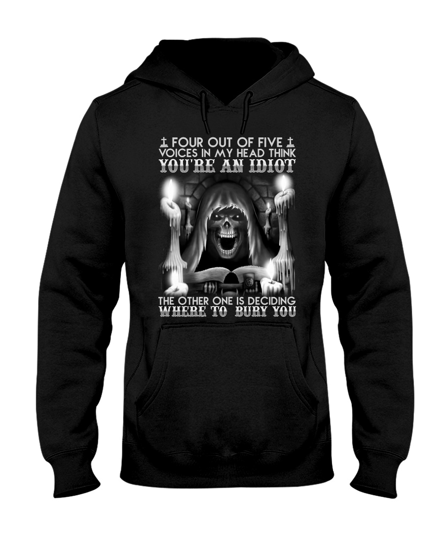 Four Out Of Five Voices In My Head Think You're An Idiot Shirt 12