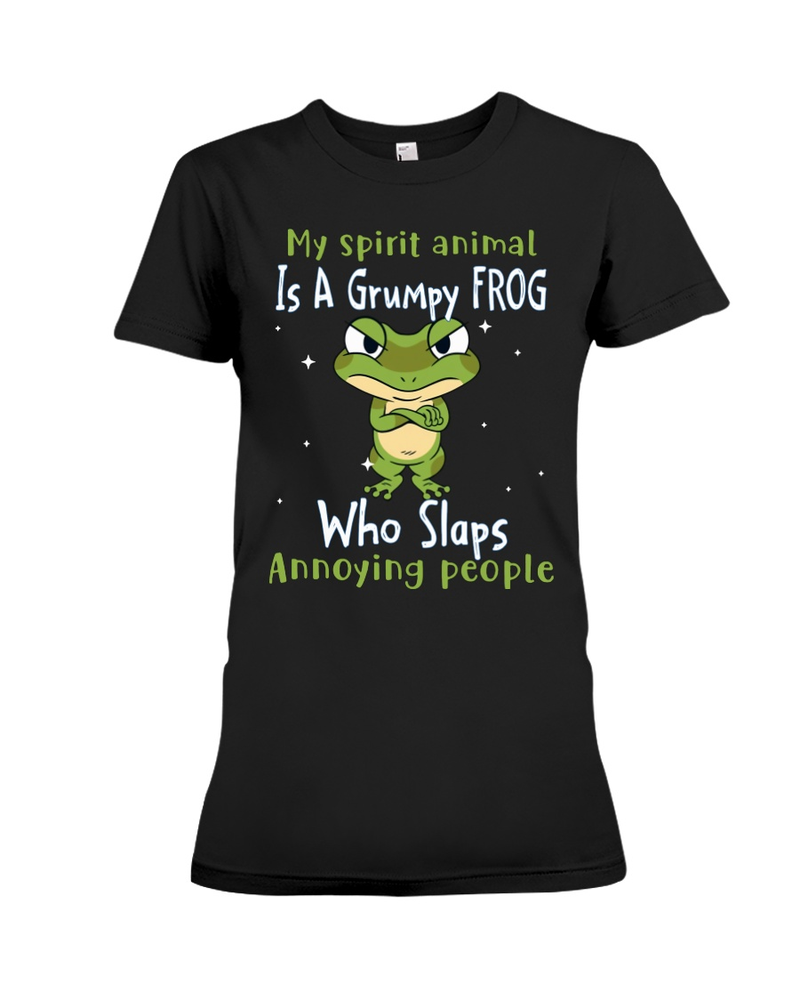 Frog My Spirit Animal Is A Grumpy Frog Who Slaps Annoying People Shirt 3
