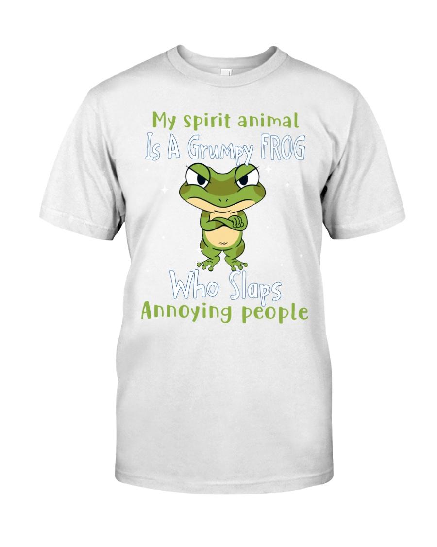Frog My spirit Animal Is A Grumpy Frog Who Slaps Annoying People Shirt 11