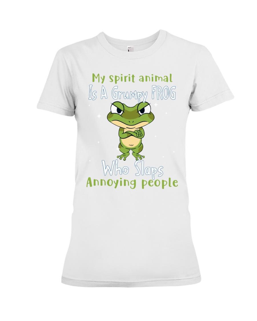 Frog My spirit Animal Is A Grumpy Frog Who Slaps Annoying People Shirt 10