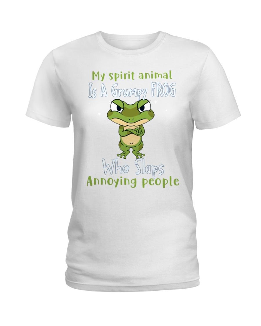 Frog My spirit Animal Is A Grumpy Frog Who Slaps Annoying People Shirt 13