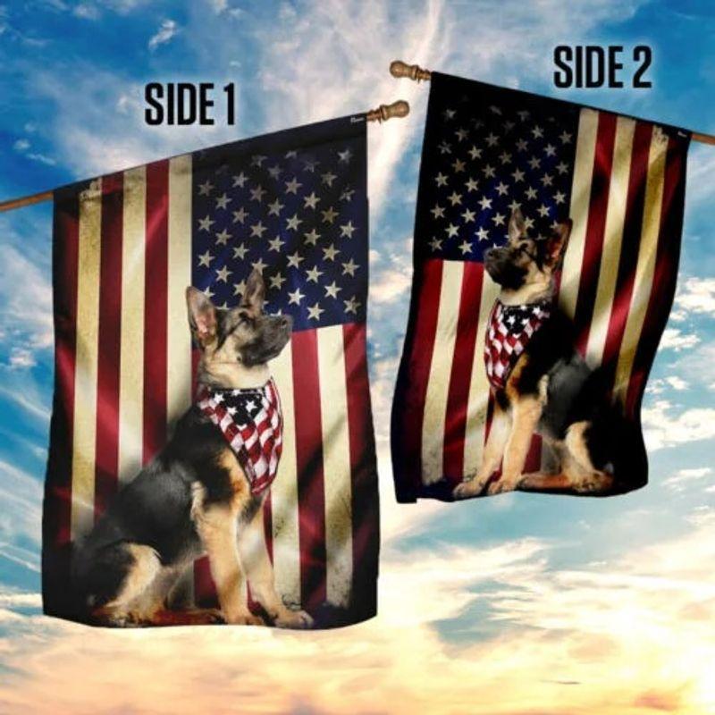German shepherd American flag 9