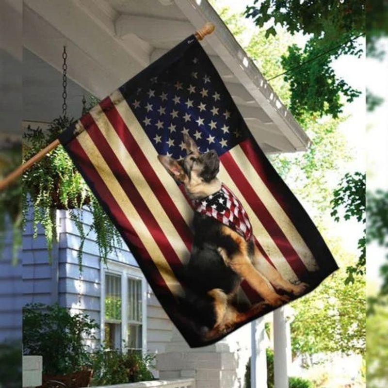 German shepherd American flag 10