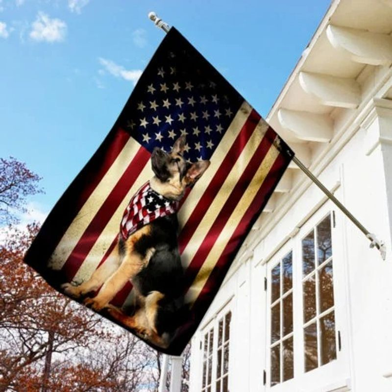 German shepherd American flag 11