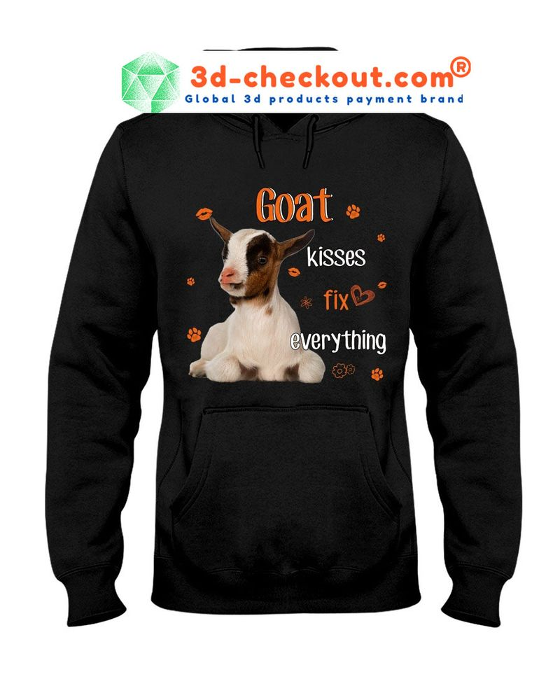 Goat kisses fix everything T-shirt 6