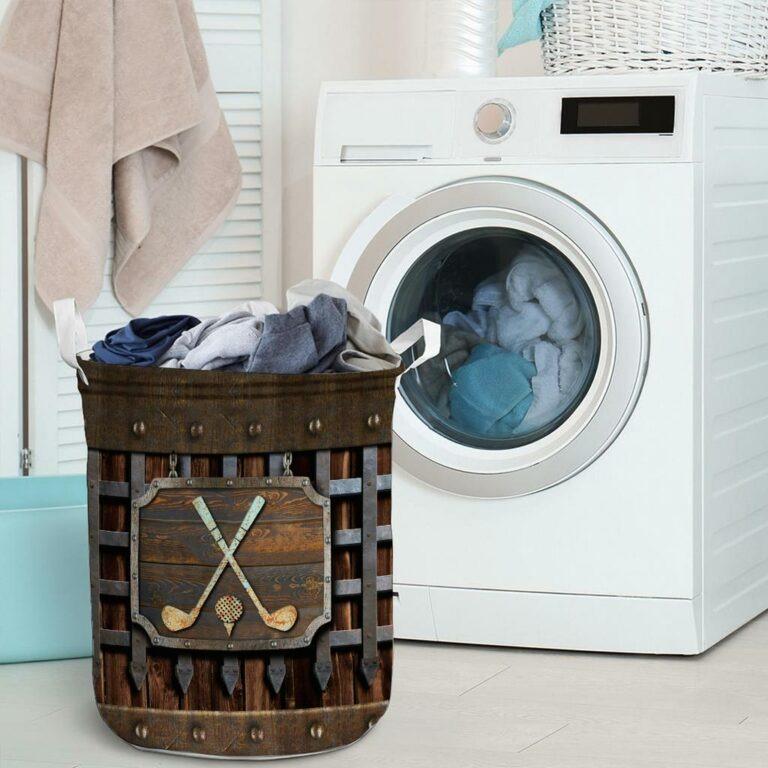 Golf faux metal print basket laundry 9