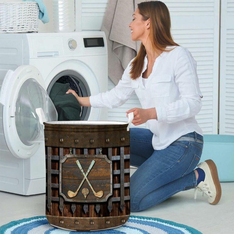 Golf faux metal print basket laundry 8