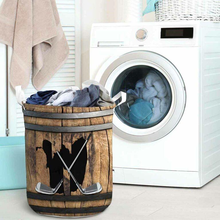 Golf faux wood print basket laundry 9
