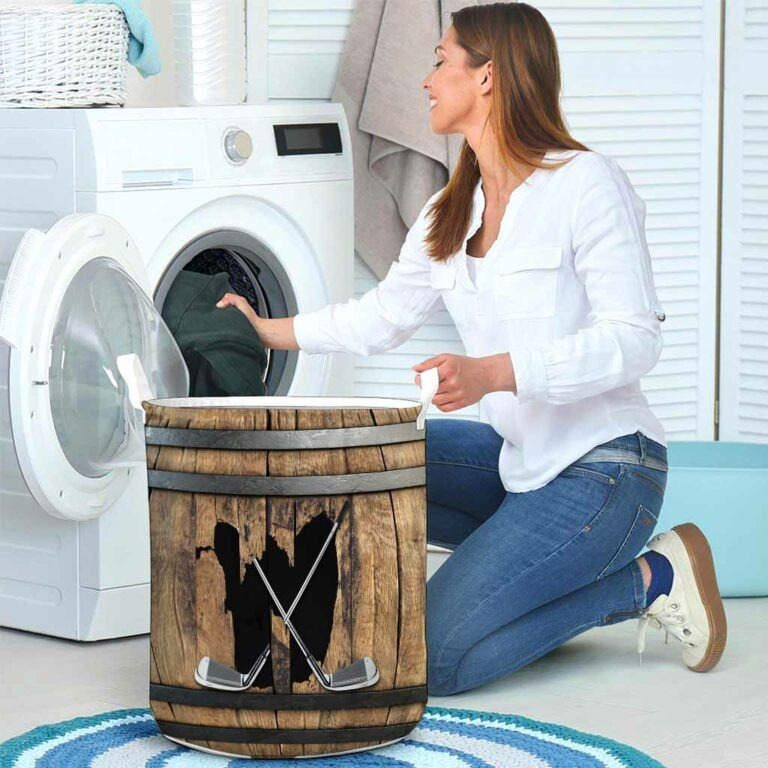 Golf faux wood print basket laundry 8