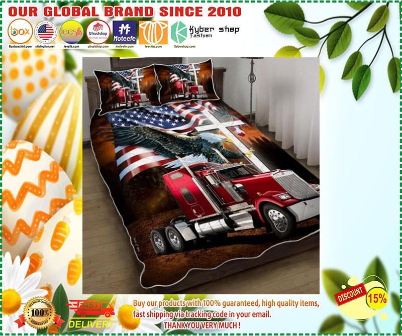 Jesus American eagle trucker quilt bedding set 9