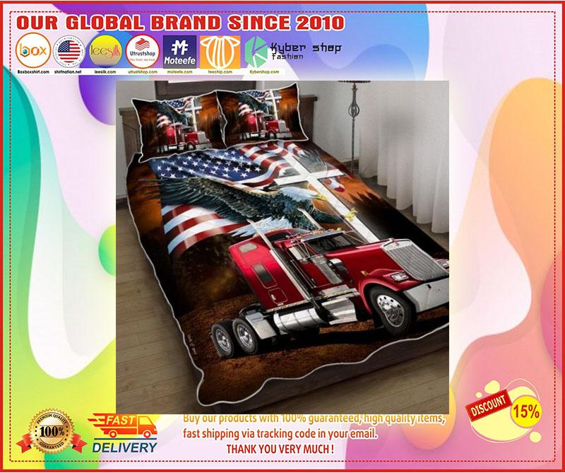 Jesus American eagle trucker quilt bedding set 11