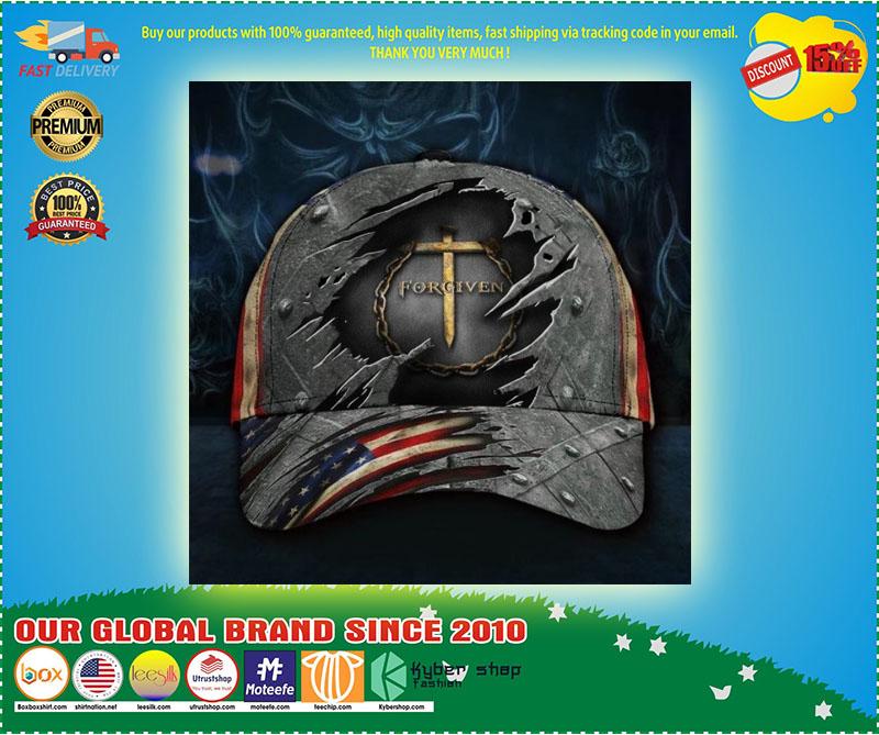 Jesus forgiven American flag classic cap 9