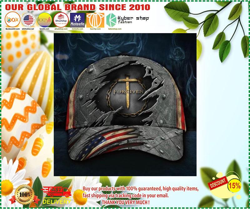 Jesus forgiven American flag classic cap 10