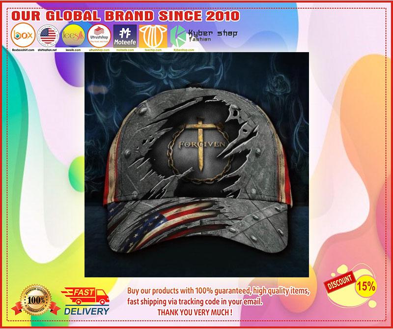 Jesus forgiven American flag classic cap 11