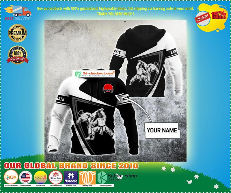 Karate custom name 3D hoodie 9