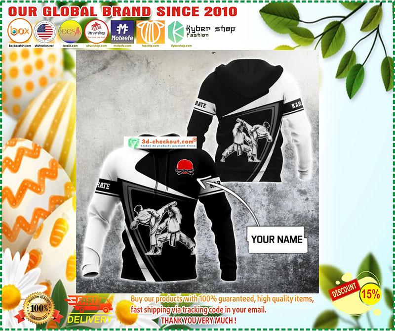 Karate custom name 3D hoodie 11