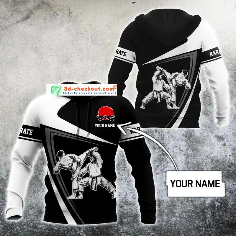 Karate custom name 3D hoodie 10