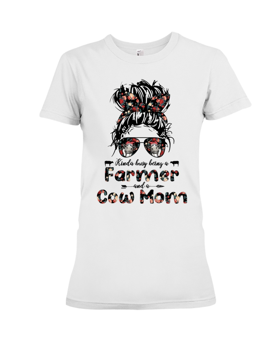 Kinda Busy Being A Farmer And A Cow Mom Shirt 12