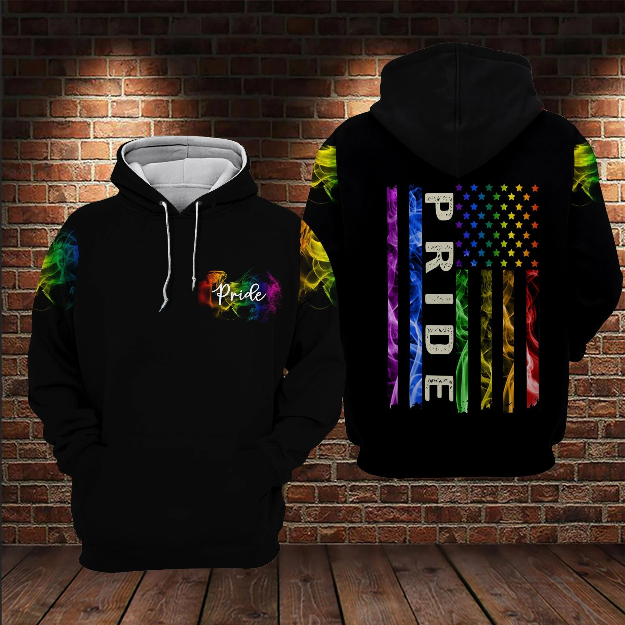 LGBT pride smoke vintage 3D hoodie 9