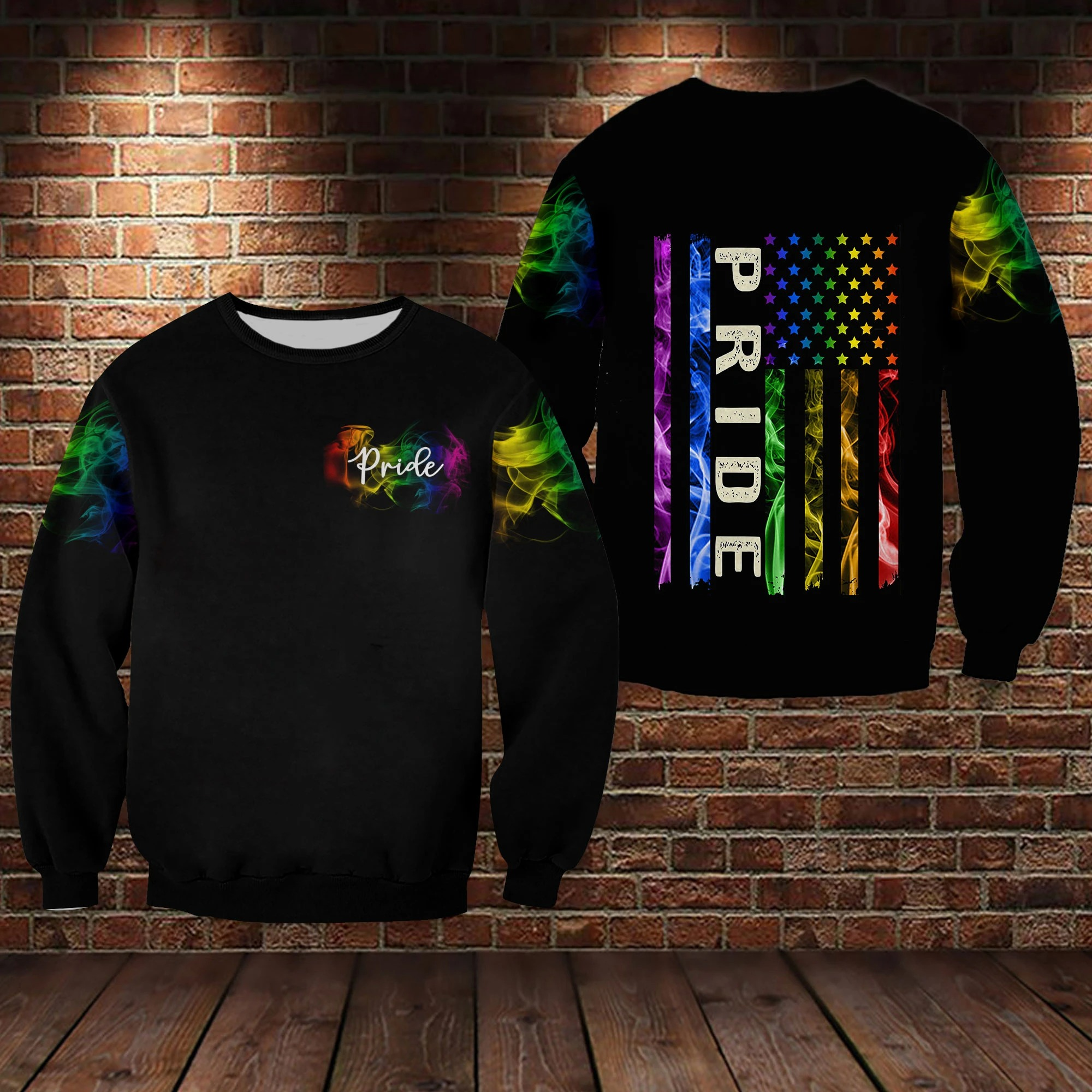 LGBT pride smoke vintage 3D hoodie 10