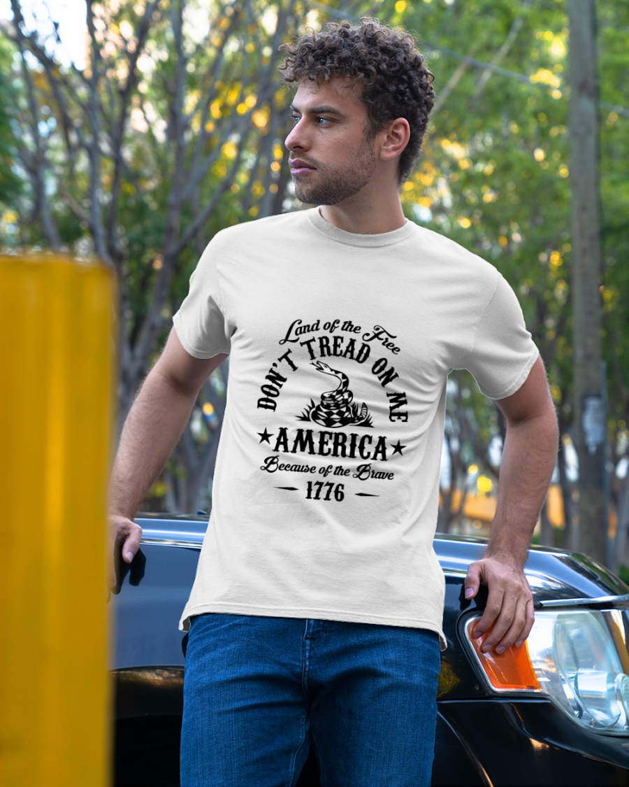Land of the free don't tread on me america shirt 9