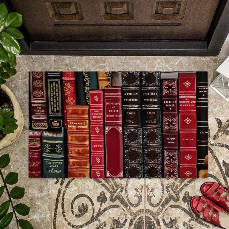 Librarian welcome doormat 9