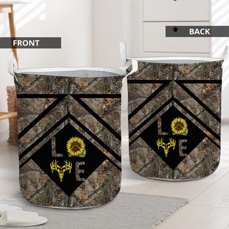 Love hunting sunflower basket laundry 7