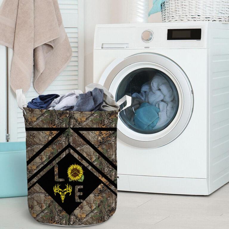 Love hunting sunflower basket laundry 9