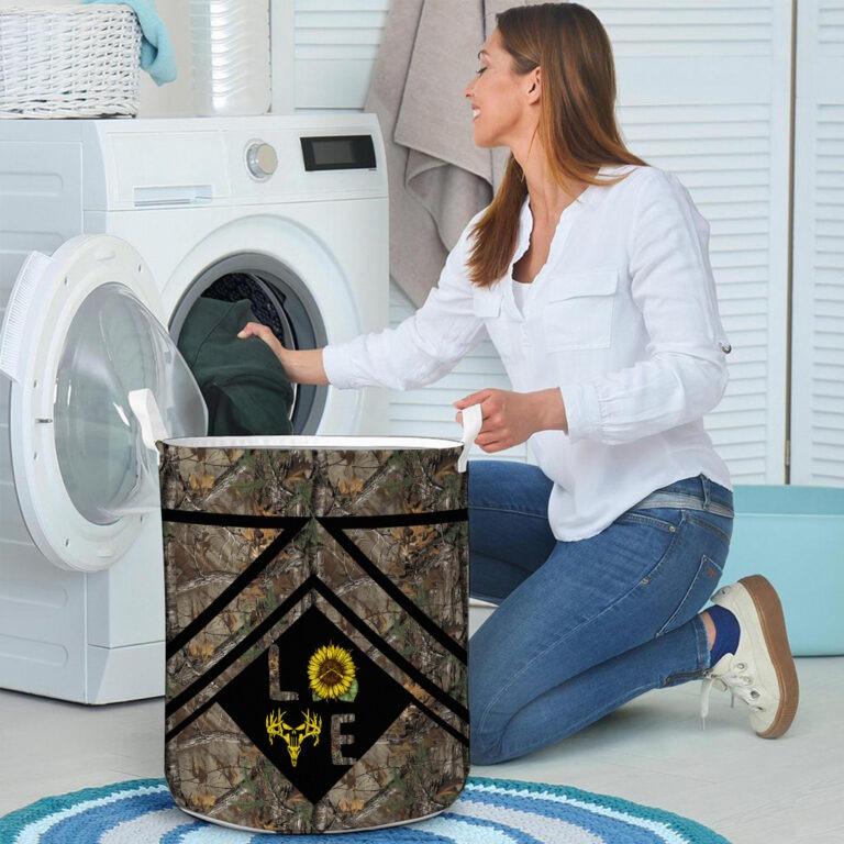 Love hunting sunflower basket laundry 8