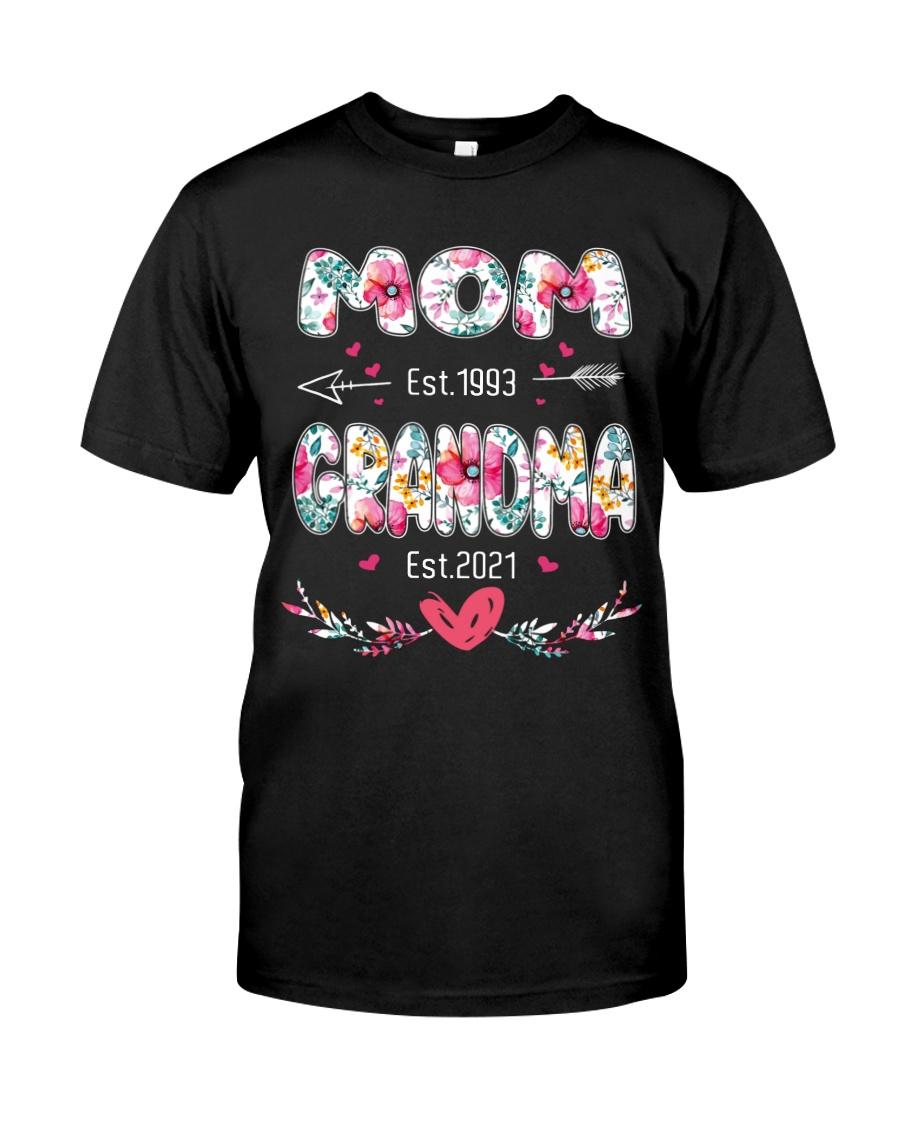 Mom est.1993 Grandma Est.2021 Shirt 11