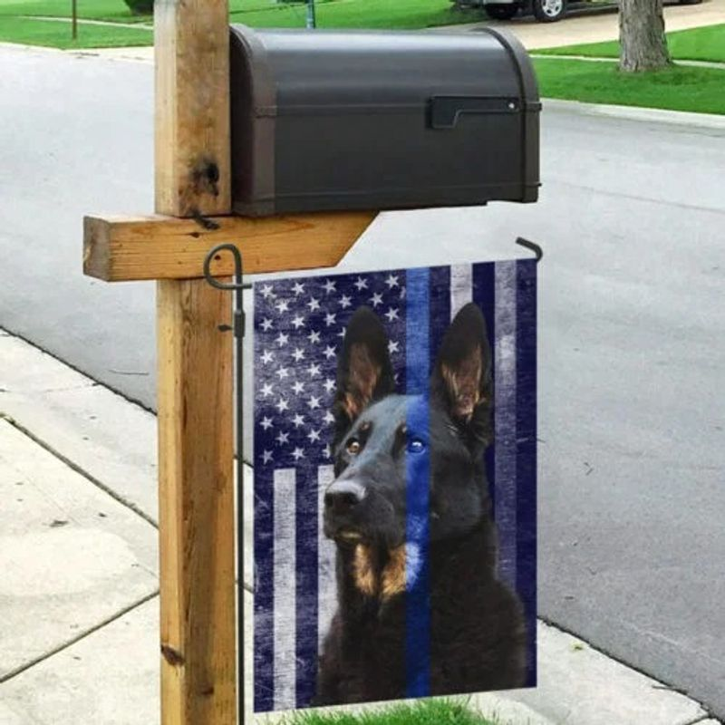 Police dog the thin blue flag 9