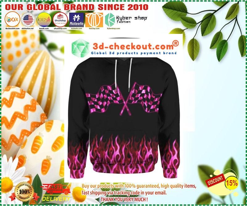 Racing girl 3D over print hoodie 9