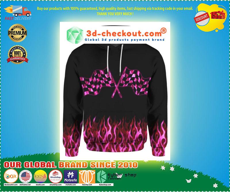 Racing girl 3D over print hoodie 11
