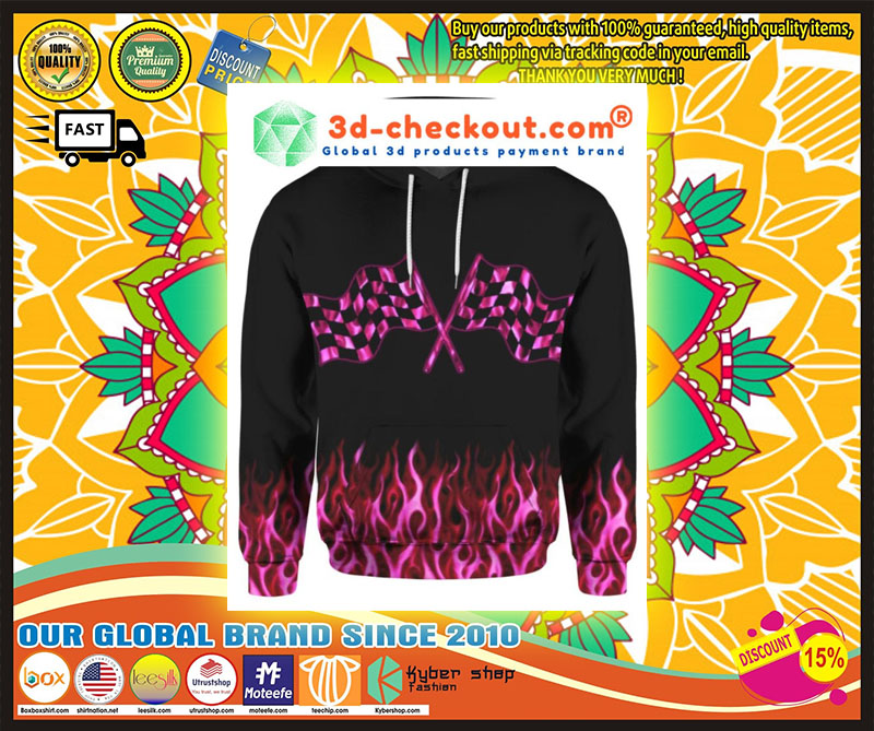 Racing girl 3D over print hoodie 10