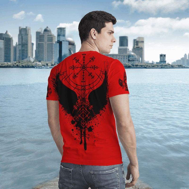 Raven vegvisir 3D T-shirt 9