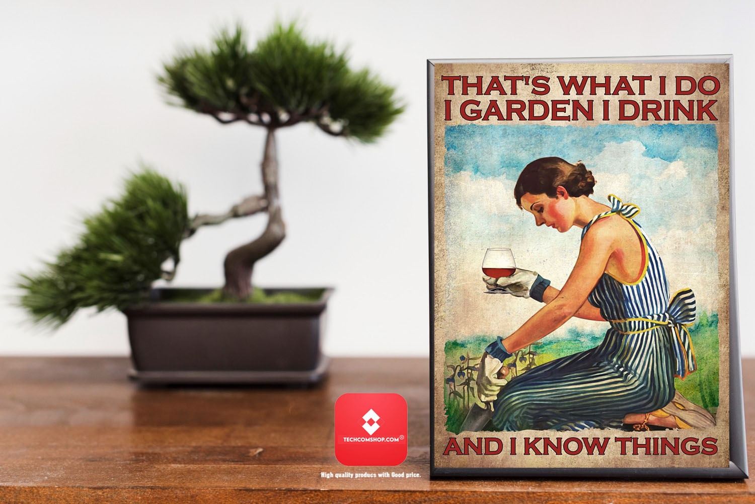 Rum wine That's what I do I garden I drink and I know things poster 8
