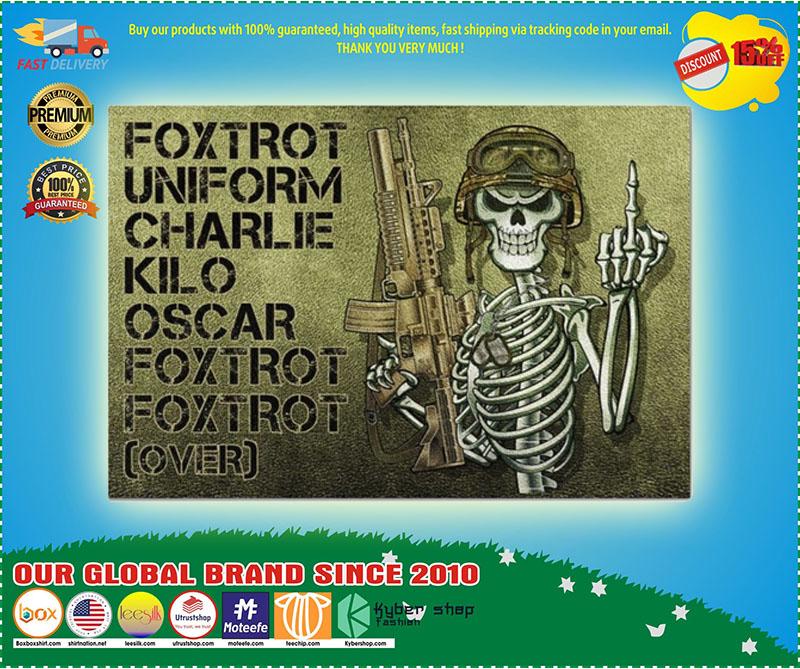 Skeleton Foxtrot uniform charlie kilo oscar doormat 9