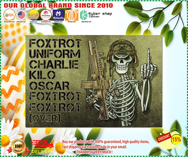 Skeleton Foxtrot uniform charlie kilo oscar doormat 10