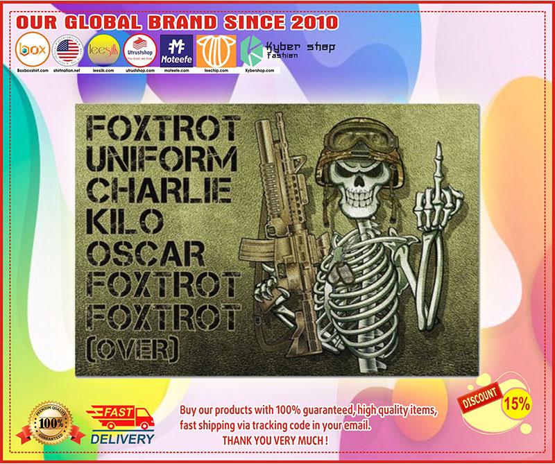 Skeleton Foxtrot uniform charlie kilo oscar doormat 11