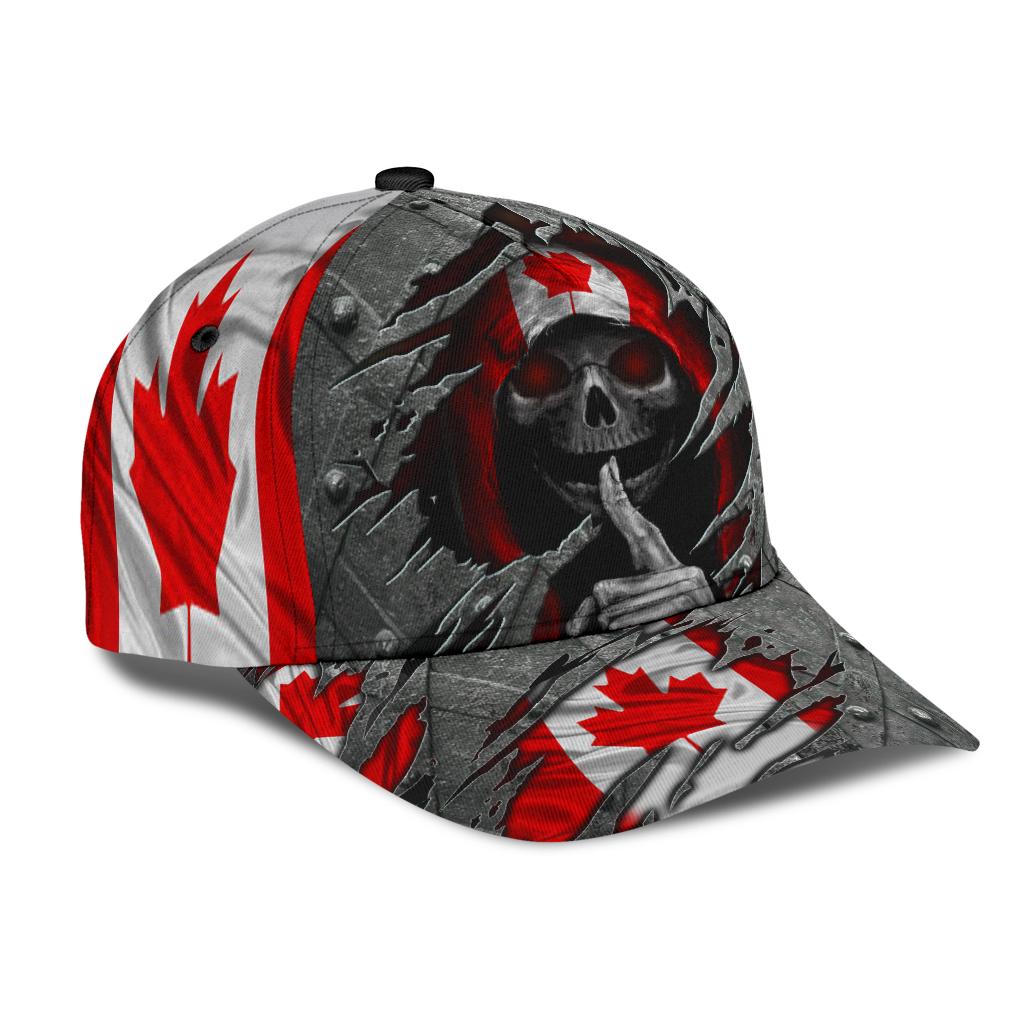 Skull canada flag classic cap 9
